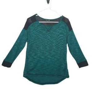 Cable & Gauge Womens Pullover Tee Green Black